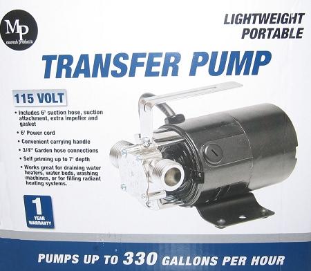 Portable Water Transfer Utility Pump 330 Gph 115 Volt