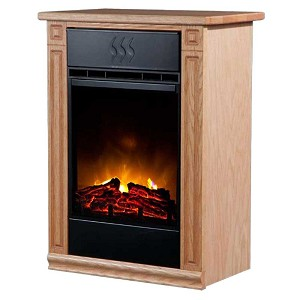 Light Honey Oak Surge Accent Infrared Fireplace EV.2 with LED Insert
