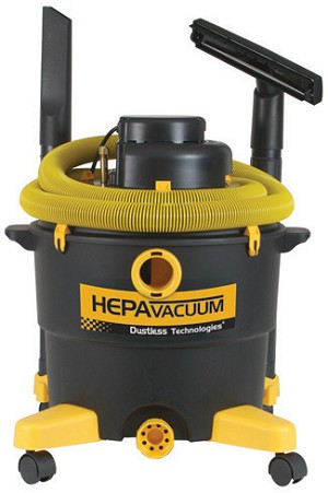 DUSTLESS TECHNOLOGIES H.E.P.A. Wet/Dry Vacs help recover asbestos, lead dust, and other airborne pollutants. Certified, it meets OSHA, EPA and NIOSH guidelines